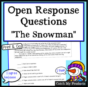 Reading Comprehension Passage : The Snowman Story to Enhance Accountable Talk