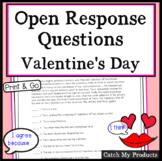Valentine's Day Reading Comprehension Passage to Enhance Accountable Talk