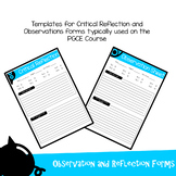Critical Reflection & Observation Forms