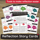 Critical Reflection Visual Learning Cards for Prek, Childc