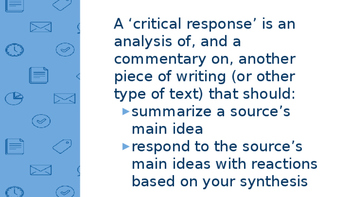 Critical Response Student Notes