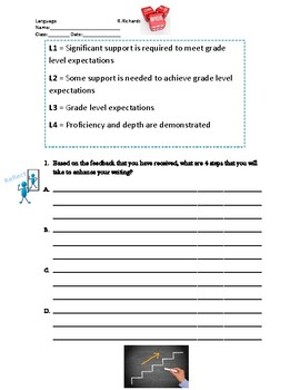 Critical Response Writing Feedback, Rubric and Student Reflection