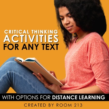 Critical Thinking Activities for Any Text {Bundle} Distance Learning Options