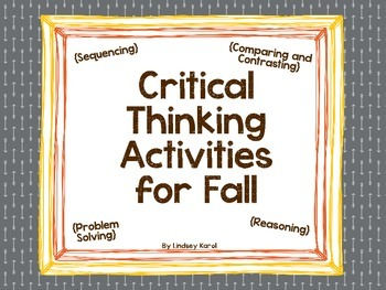 Critical Thinking Activities for Fall