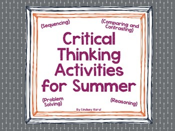 Critical Thinking Activities for Summer