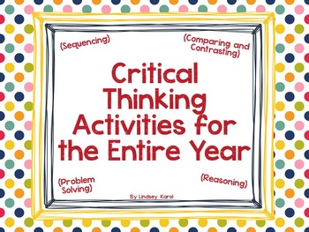 Critical Thinking Activities for the Entire Year