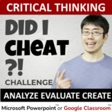 Critical Thinking Activity: Did I cheat? $500 TpT gift car