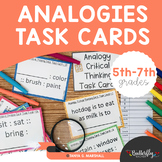 Critical Thinking Analogy Task Cards