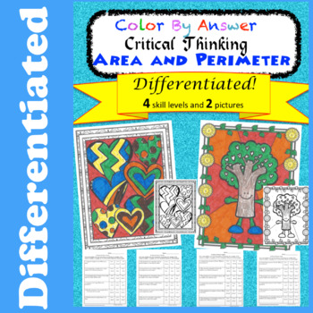 Critical Thinking Area and Perimeter Differentiated Fun Pages