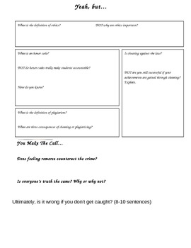 Critical Thinking Assessment for Ethics and Plagiarism