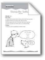 Critical Thinking: Authors, Tools, Apples (Ten-Minute Activities)