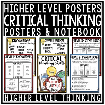 Bloom's Taxonomy Posters for Higher Order Thinking Skills