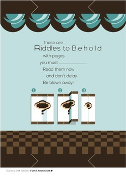 Critical Thinking Book: Riddles to Behold, an interactive fold-in book