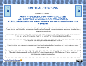 Critical Thinking Core Competencies Profiles Slides (New BC Curriculum)