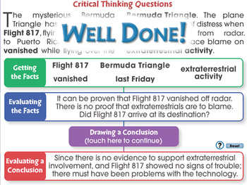 Critical Thinking: Critical Thinking Questions - NOTEBOOK Gr. 3-8