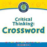 Critical Thinking: Crossword - NOTEBOOK Gr. 3-8