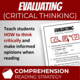 Critical Thinking / Evaluating (Reading Comprehension Stra