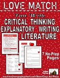 Critical Thinking, Explanatory Writing, Literature: Love Match