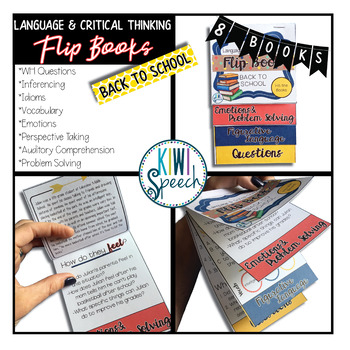 Critical Thinking & Higher-Level Language Flip Books {BACK TO SCHOOL}