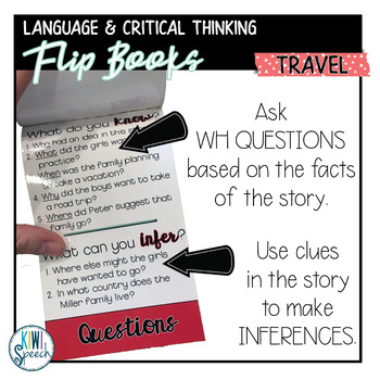 Critical Thinking & Higher-Level Language Flip Books {TRAVEL}
