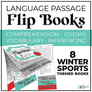 Critical Thinking & Higher-Level Language Flip Books {WINTER SPORTS}