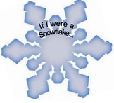 Critical Thinking If I were a snowflake printable Pre K Preschool
