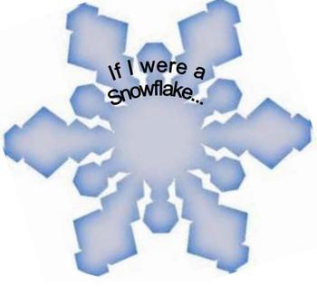 Critical Thinking If I were a snowflake printable Pre K Preschool