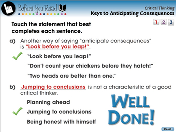 Critical Thinking: Keys to Anticipating Consequences - PC Gr. 5-8