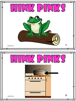 Critical Thinking -- HINK PINKS for KINDERS I