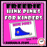 HINK PINKS for KINDERS FREEBIE Critical Thinking Vocabulary