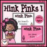HINK PINKS I Critical Thinking Vocabulary Development GATE Enrichment