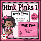 HINK PINK PUZZLES Set I Word Riddles Task Cards Vocabulary Development GATE