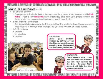 Critical Thinking Kids Love -- HINK PINKS II