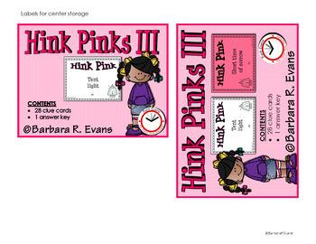 HINK PINKS III Critical Thinking Vocabulary Development GATE Enrichment