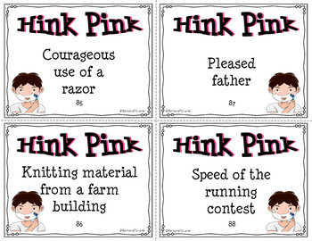 HINK PINKS IV Critical Thinking Vocabulary Development GATE Enrichment