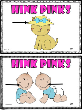 Critical Thinking -- HINK PINKS for KINDERS III