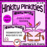 HINKITY PINKITIES Set I Critical Thinking Vocabulary Devel