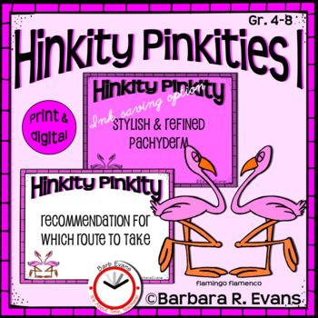 HINKITY PINKITIES Set I Critical Thinking Vocabulary Development GATE HOTS