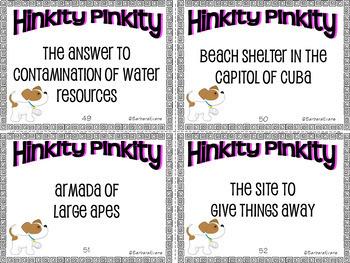 HINKITY PINKITIES Set II Critical Thinking Vocabulary Development GATE
