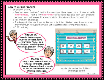 HINKY PINKY III Critical Thinking Vocabulary Development GATE Enrichment