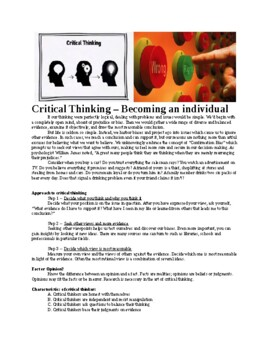 Critical Thinking Lesson