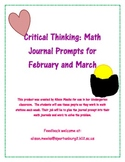 Critical Thinking: Math Journal Prompts for February and March