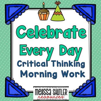 Critical Thinking Morning Work Yearlong Bundle Aug-May