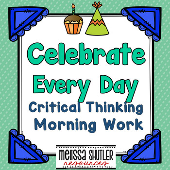 Critical Thinking Morning Work for August through December Bundle