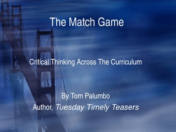 Critical Thinking Motivators: The Match Game
