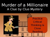 Distance Learning Critical Thinking Mystery: Murder of a Millionaire PPT
