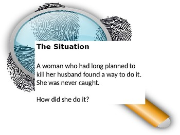 Critical Thinking Mystery Activity: The Perfect Crime PowerPoint