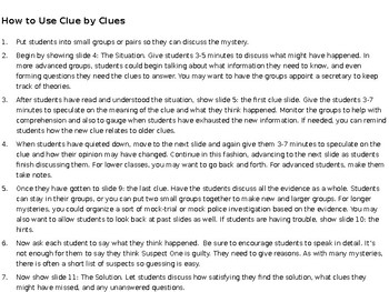 Critical Thinking Mystery Activity: The Weird Break-In PowerPoint