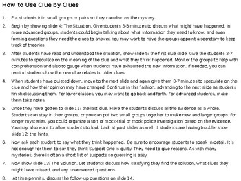 Critical Thinking Mystery Game : An Unrelated Murder Powerpoint