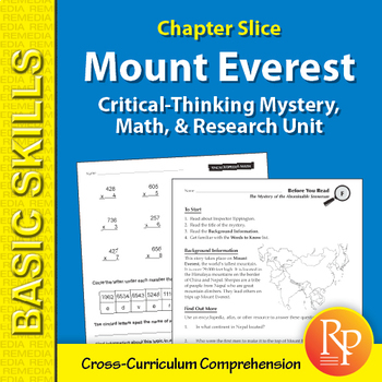 Critical-Thinking Mystery, Math, & Research Unit